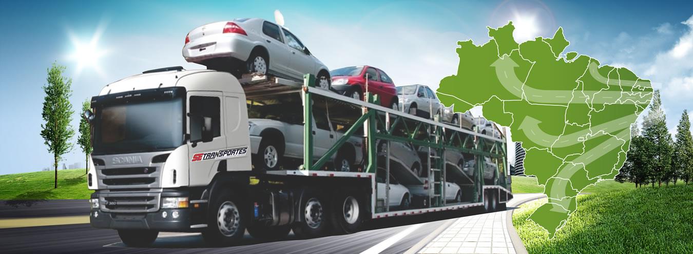 Transporte de veículos cegonha Aracaju - SE